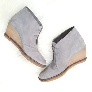 J. Crew Suede Leather MacAlister Wedge Ankle Boots